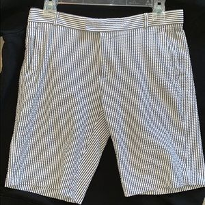 Uec BR Bermuda shorts stretchy. grey/white stripe